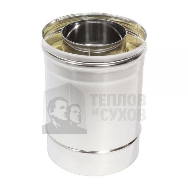 Труба Термо L 250 ТТ-Р 304-0.8/304 D115/210* с хомутом