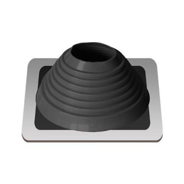 Уплотнитель кровельный №6 силикон 127-228 mm чёрный (black)