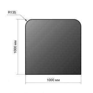 Лист напольный сталь 1000*1000*2 R135