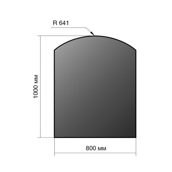 Лист напольный сталь 1000*800*2 R641